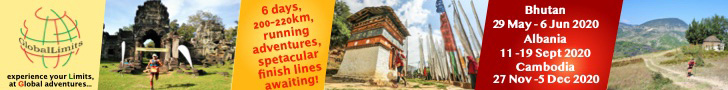 Global Limits events: Bhutan 29th May, Albania 11th Sep, Cambodia 27th Nov