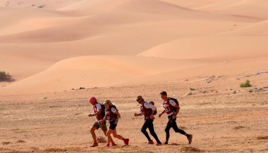 Racing in the desert of Abu Dhabi