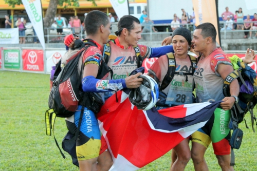Finishing together as a team at the Costa Rica Adventure Race