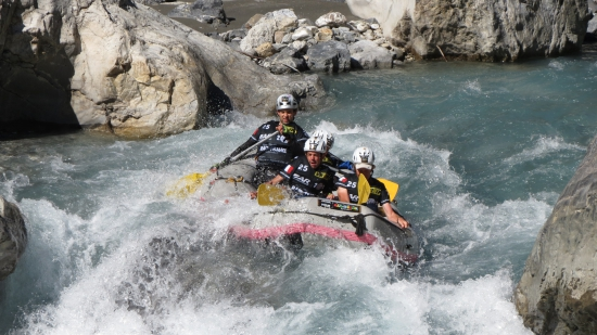 Rafting at Raid in France, part of the Adventure Racing World Series