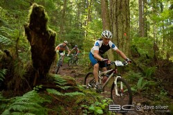 Riding in the 2017 BC Bike Race