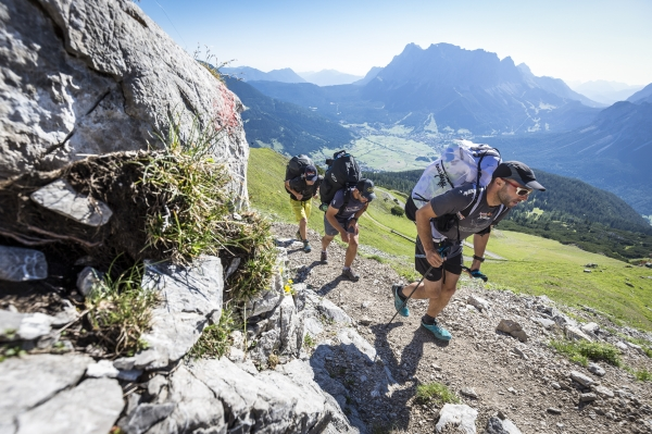 Alpine trekking in the Red Bull X-Alps