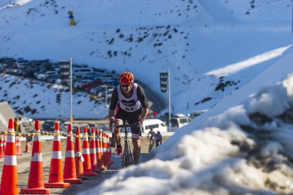 Chris Forne Riding the Coronet Peak Road