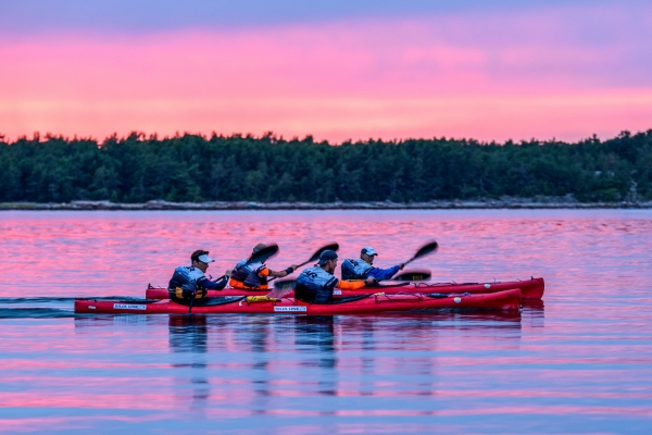 Paddling in the Nordic Islands Adventure Race