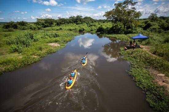 River paddling is a major discipline in Expedición Guaraní