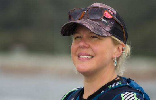 Holly Budge training for the Kathmandu Coast to Coast