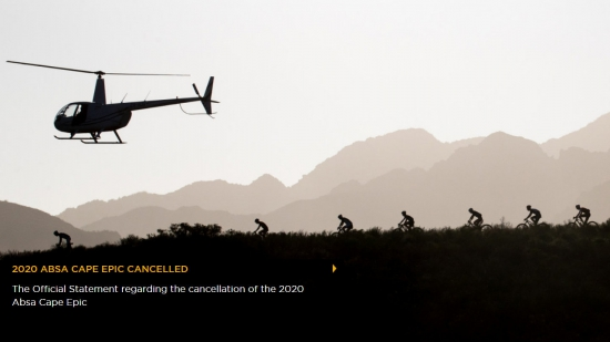 The Absa Cape Epic is cancelled