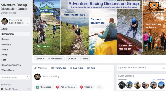The Adventure Racing Discussion Group