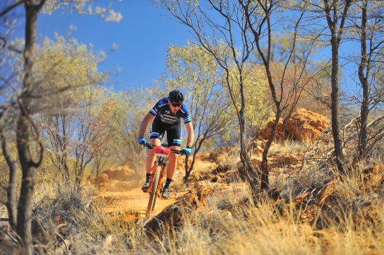 Riding the Redback mountain bike stage race