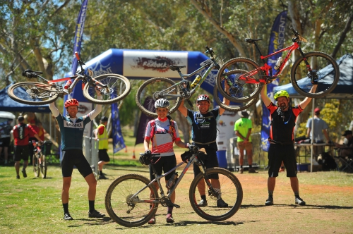 The finish line of The Redback in Alice Springs