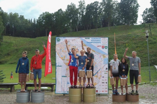 Team Blizzard on the podium at the Rogaining European Champs