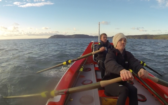 Lawrence Walters(L) and Tom Rainey (R) training in Salcombe