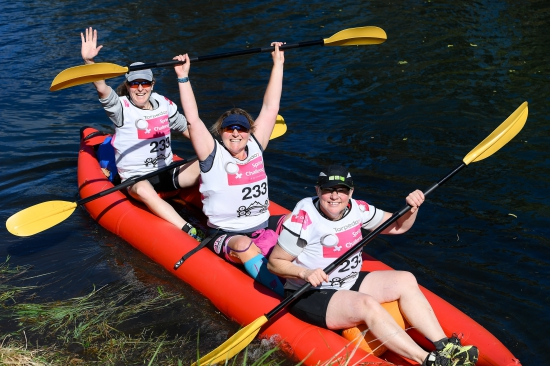 Paddling at the Spring Challenge