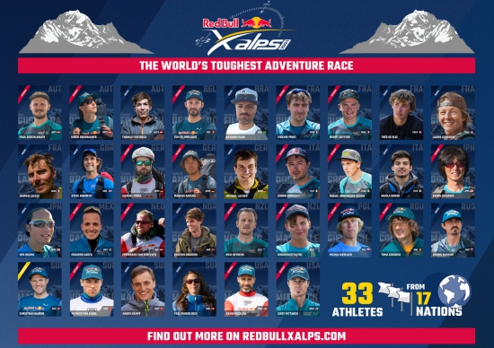 The athletes for the 2021 Red Bull X-Alps