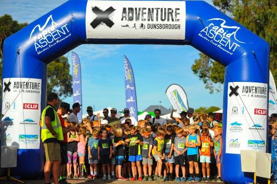 Start of the junior race at the X-Adventure Dunsborough