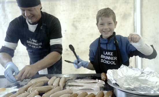 Happy volunteers from the Lake Brunner School