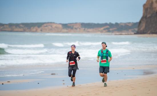 Racing at the Surf Coast Century Ultra run