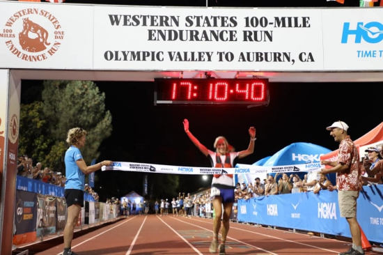 Beth Pascall wins the Western States 100-Mile Endurance Run