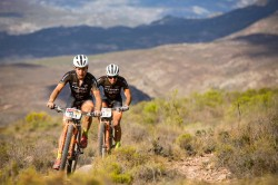 Fabian Rabensteiner and Michele Casagrande during stage 1 of the 2018 Absa Cape Epic