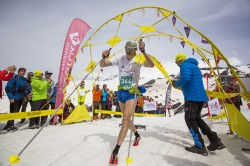 Reaching the summit of Elbrus after the Vertical Kilometer race