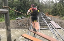 Finding a way over torrential rivers at Huairasinchi