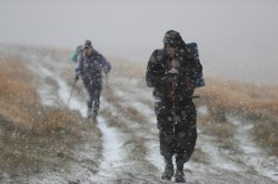 Racing through the snow at the 2018 OMM