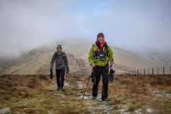 On the final stages of the Montane Spine Race
