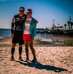 Emily Korsch and Scott Erlandson at the 2015 Sea to Sea Race where the couple began dating