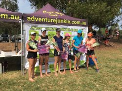 The winners at the Women Only Adventure Race