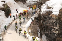 The race start at the foot of the Rohtang Pass