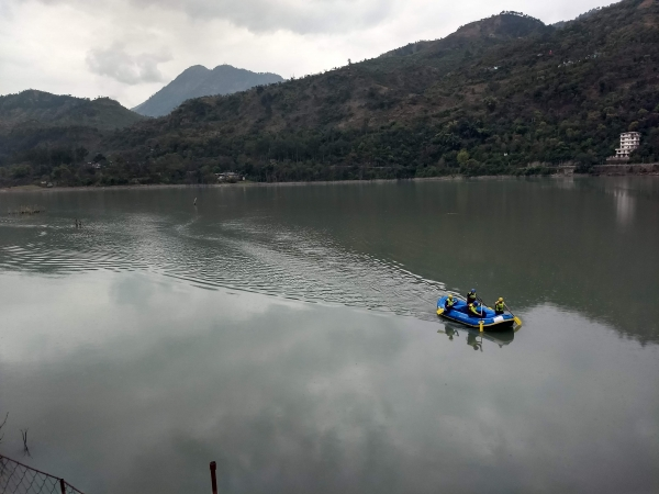 Paddling into Transition 6 on Expedition India