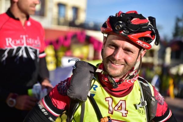 Brent Freedland on the finish line