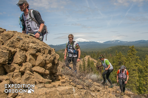 Teams trekking on Expedition Oregon