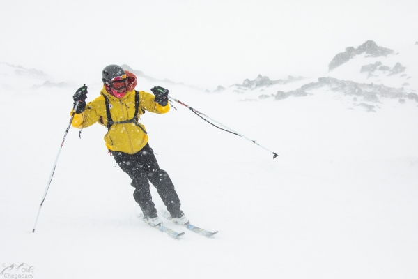 Poor weather on the Ski Monsters race