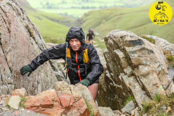 Wet conditions at the Scafell Sky Race