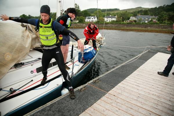 Coming ashore for the Ben Nevis run