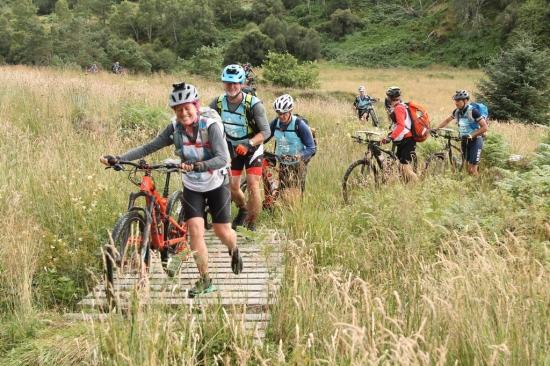 Hike-a-bike in Srath Rory