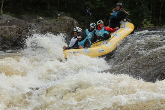 Rafting down the Garry River