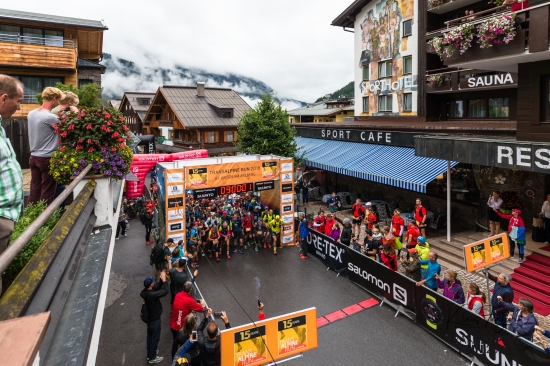 The stage 3 start in St. Anton