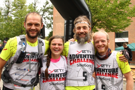 Team Yeti on the finish line last year