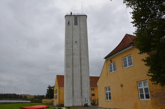 The abseil off a grain silo at  TA3