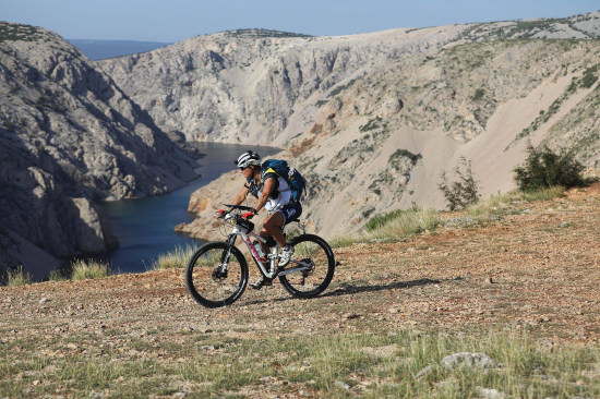 Riding on day 2 of Adventure Race Croatia