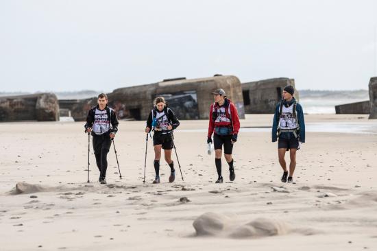 Trekking on the beach at YACS
