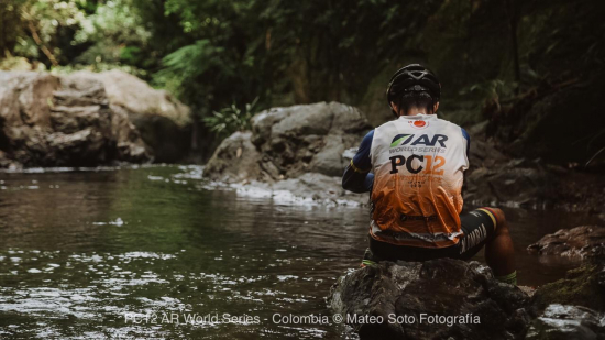Cooling off at the PC Adventure Race in Colombia