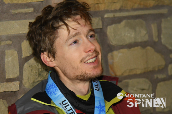 John Kelly at the finish of the Montane Spine Race