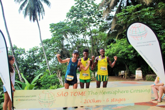 The top runners at São Tomé - The Hemisphere Crossing