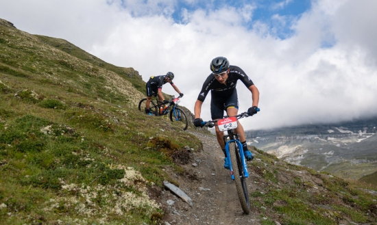 Simon Stiebjahn during Stage 1 of the 2020 Swiss Epic