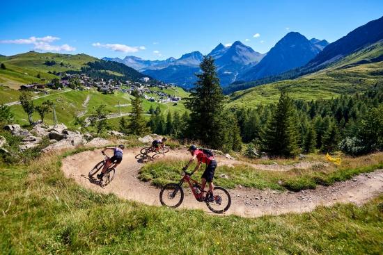 Riding at Arosa in Switzerland