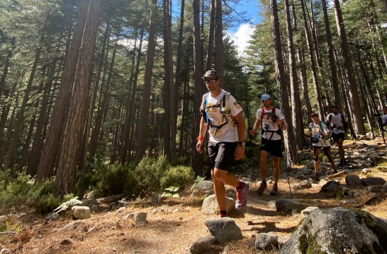 Trekking on day one at the Corsica Raid