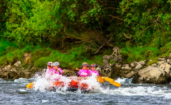 Rafting at the Spring Challenge women's adventure race